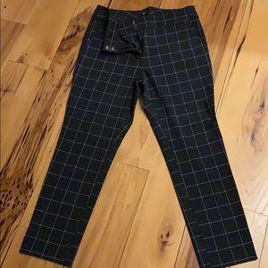 LOFT skinny ankle windowpane trouser